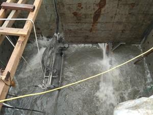 哈尔滨市政下水道带水
